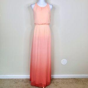 LC Lauren Conrad Ombre Maxi Dress Pink Peach
